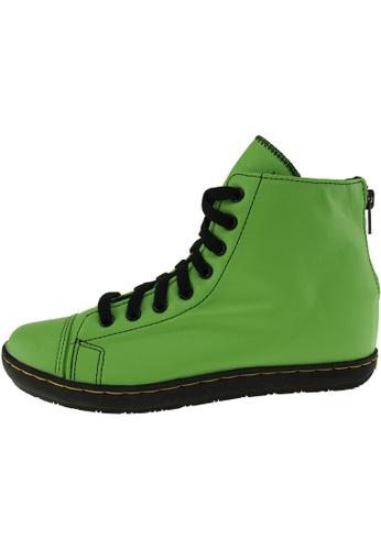 Maxstar 綠色 新款韩国鞋202-BZ-TC-Taller時尚皮革布混合女綠色 US Women Size MA345SH35GRWTW_1