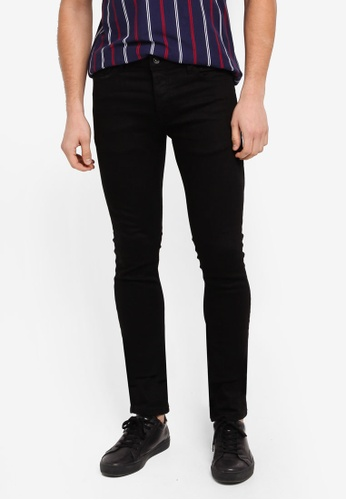 Topman black Black Oil Coated Stretch Skinny Jeans C60D4AA65C2DCCGS_1