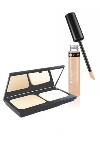 Revlon beige Revlon ColorStay™ Two-Way Powder Foundation 130 Shell + Revlon ColorStay™ Concealer 030 Light Medium RE737BE19CXSSG_1