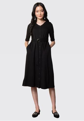 L'zzie black LZZIE JELES DRESS - BLACK C30E9AAFD69EE0GS_1