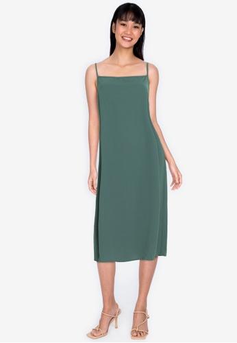 ZALORA BASICS grey Low Back Column Dress AC814AA8AEB869GS_1