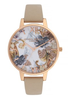 Olivia Burton Marble Florals SAND 38mm Women\'s Watch
