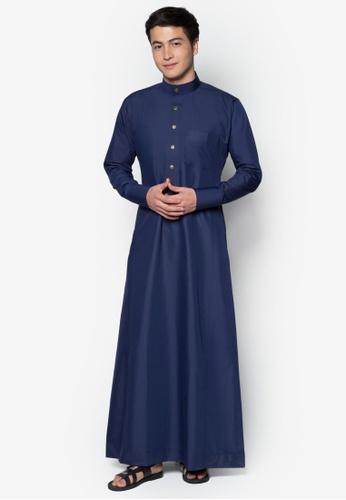 Amar Amran blue Jubah A Slim Fit C5A6EAAED01AE6GS_1