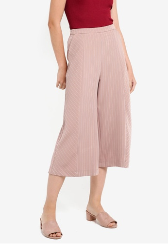 Something Borrowed white Striped Culottes 413D1AA590F21AGS_1