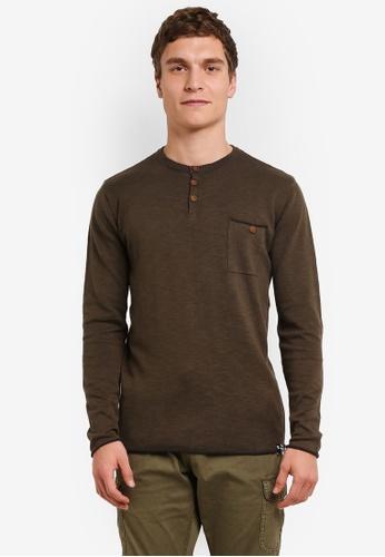 Indicode Jeans green Pierre Light Knit Grandad Sweater IN815AA0ROLHMY_1