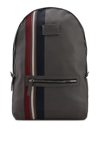 River Island grey Sporty Stripe Backpack A0223AC15A878EGS_1