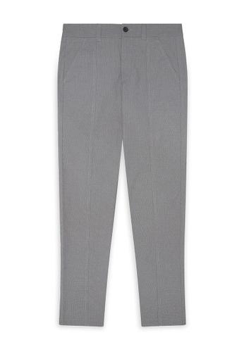 CERRUTI 1881 black Houndstooth Check Cotton Blend Pants 03838AA1F65418GS_1