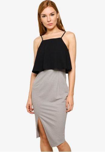 ZALORA WORK multi Cami Dress With Slit 90B2AAA8D14540GS_1