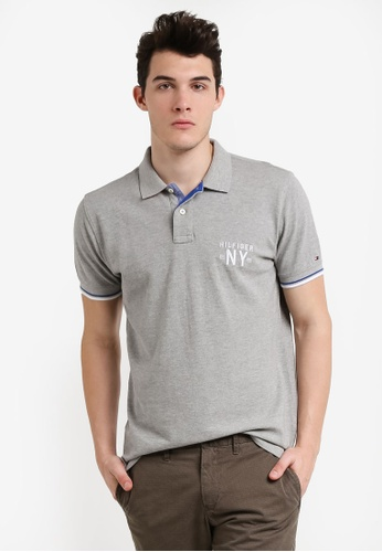 Tommy Hilfiger grey DEE TIPPED POLO S/S RF TO861AA0RUN5MY_1