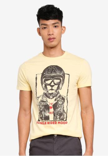 OVS gold Printed T Shirt 75841AA991F644GS_1