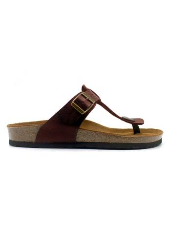 SoleSimple red Copenhagen - Red Leather Sandals & Flip Flops 40EC0SHE4CC3EDGS_1