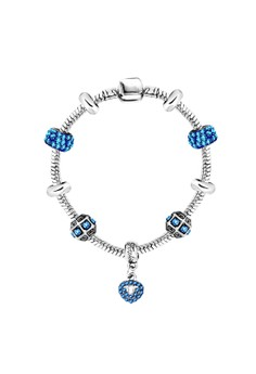 Treasure by B&D DBY005 Imitation Sapphire Lucky Beads Snake Chain DIY Bracelet