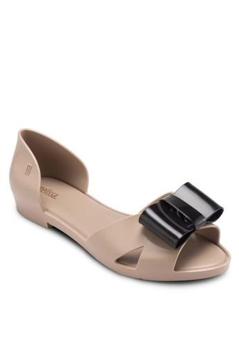 Seduction 蝴蝶結側空平底鞋,esprit 台中 女鞋, 鞋