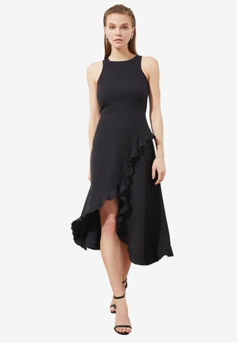 Trendyol black Ruffle Trim Tulip Dress C427EAA3476257GS_1