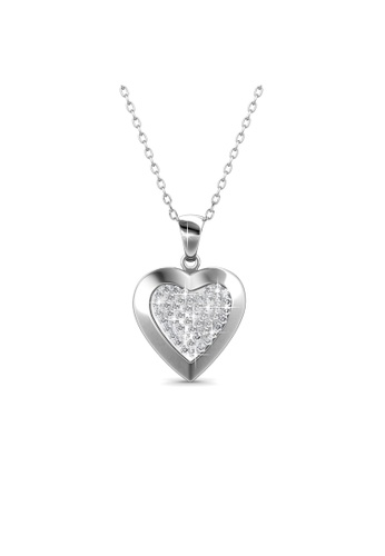 Her Jewellery silver Swarovski® Crystals - Tingle Locket Pendant (18K White Gold Plated) Her Jewellery HE581AC0R9XBMY_1