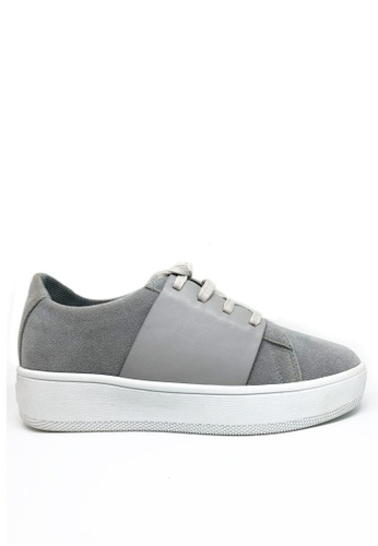 Twenty Eight Shoes grey Synthetic Suede Platform Sneakers 8296 5ED53SH794101AGS_1