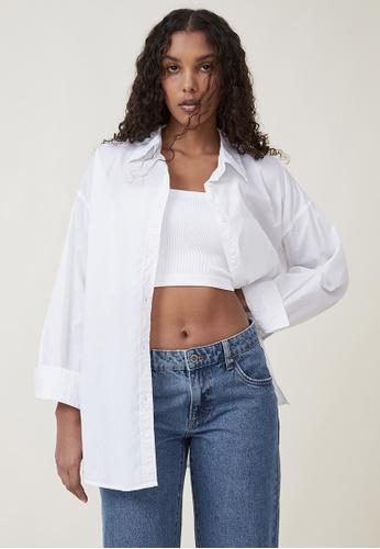Cotton On white Dad Shirt 7D228AA47E5ACFGS_1