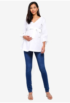 683071c261a2 20% OFF Mama.licious Maternity Krista 3 4 Woven Top RM 189.00 NOW RM 150.90  Sizes M