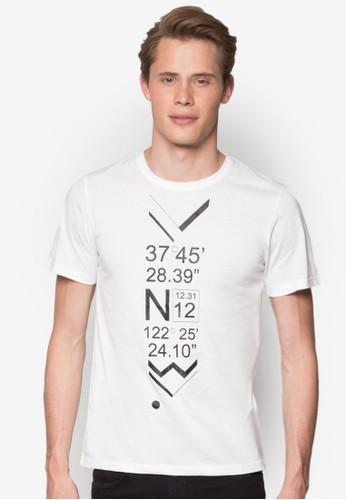坐標esprit分店地圖設計TEE, 服飾, 印圖T恤