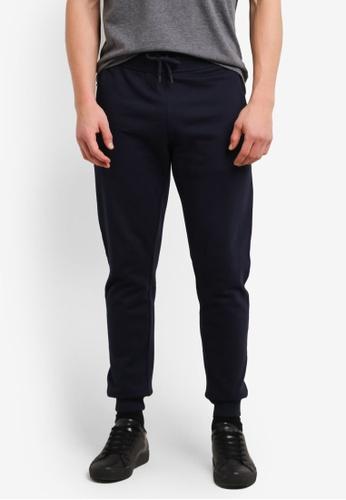 Burton Menswear London navy Navy Slim Fit Joggers BU964AA0SHO6MY_1