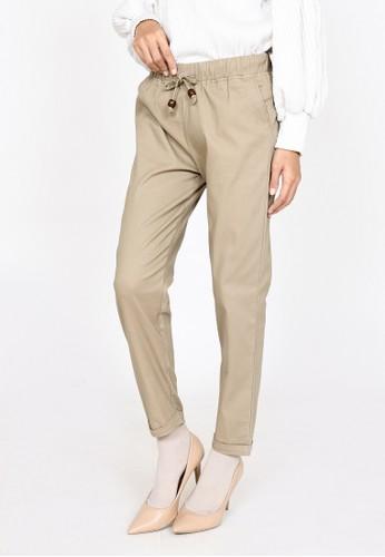 ZAHRA SIGNATURE brown Longpant Twill Basic Irma 71C60AAF62ADD6GS_1