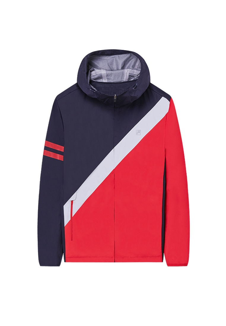 Line Woven Navy Jacket Red FILA q5wRqd