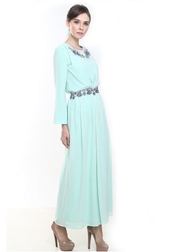 Aisya Kurung Modern in Light Green from Rina Nichie Couture in Green