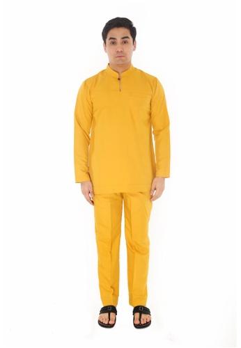 Amar Amran yellow Baju Melayu Gumbae 87B65AA5F3CB91GS_1