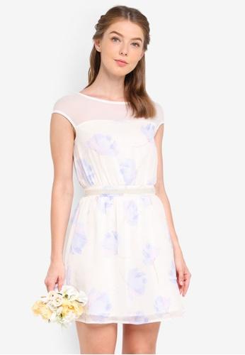ZALORA multi Bridesmaid Embellished Waist Mini Dress DD865AA14A974FGS_1