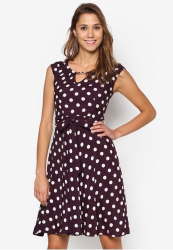 Billie & Blossom: esprit outlet 高雄Damson 印花鍊飾洋裝, 服飾, 洋裝