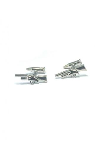 Splice Cufflinks silver Silver Shotgun Cufflinks   SP744AC30DUNSG_1