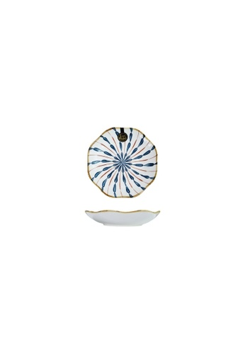 Table Matters multi Firework - 8 inch Lotus Leaf Plate 88FACHLA127A35GS_1