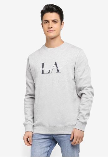 Cotton On grey Crew Fleece Sweatshirt F0D5BAA5477F3FGS_1