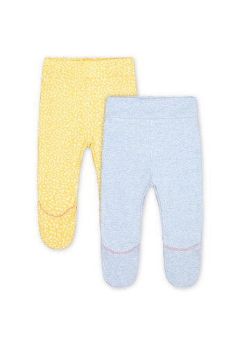 Mothercare yellow Mothercare - yellow daisy and blue ruffle leggings 4B56AKA8D488D2GS_1