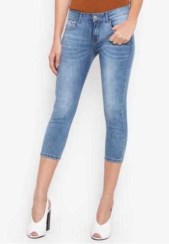 0be29c3b0bed93 Shop Balaynor Fashion Skinny Capri Jeans Online on ZALORA Philippines