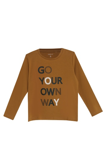 NAME IT brown Neller Long Sleeves Tee 2A78FKA13B4610GS_1