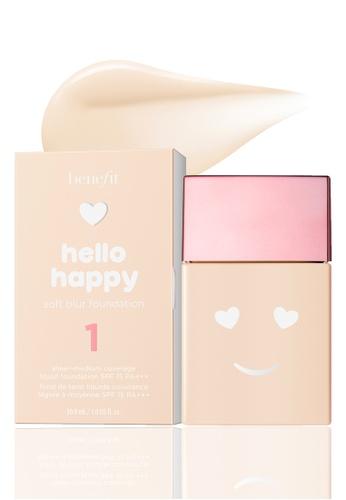Benefit beige Benefit Hello Happy Soft Blur Foundation Shade 01 5264CBE64BAD9EGS_1