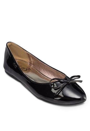 漆皮蝴蝶結娃娃鞋, 女鞋, 芭蕾平底esprit hk鞋
