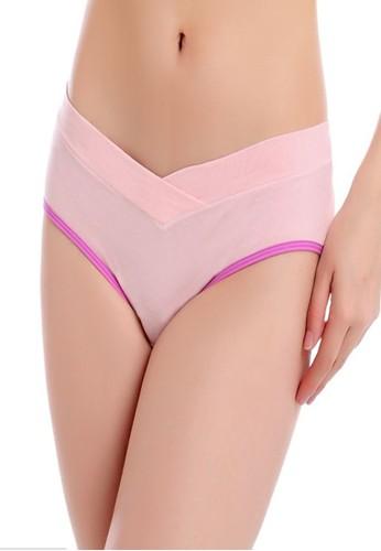 Eve Maternity pink Underbelly Basic Maternity Pants EV584US86MGVID_1