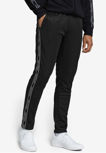JACK & JONES black Twill Taping Sweatpants 434ABAAE751CF8GS_1