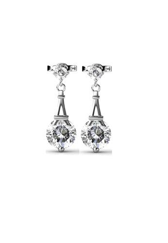 ADORA silver Swarovski Dangling Earrings 0D6A5ACAE2023DGS_1