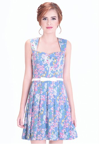 Emionette blue Bridgette Floral Dress EM909AA96WLVID_1