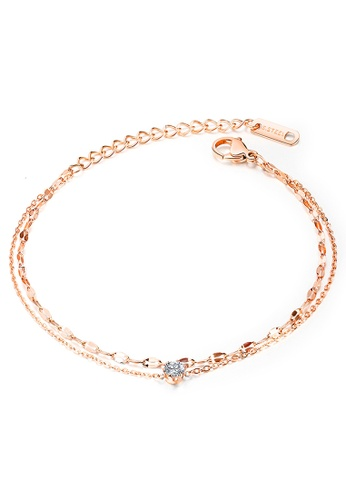 YOUNIQ YOUNIQ Twinkle Dot Rosegold Slim Bracelet with Cubic Zirconia 0D080AC5EF61AEGS_1