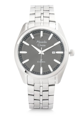 Alexandre Christie silver Alexandre Christie Jam Tangan Pria - Silver Black - Stainless Steel - 8637 MDBSSBA 2FAC7AC2B731D1GS_1