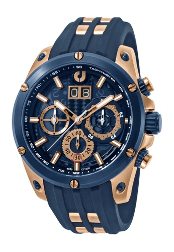 Charles Jourdan blue Charles Jourdan Men CJ1036-1582C Blue Silicone Watch 35705ACFBC066AGS_1
