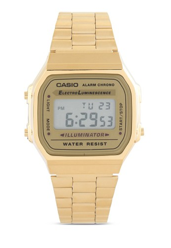 Casio gold Casio Jam Tangan - Gold - Stainless Steel - A168WG-9WDF 8A623AC277FECFGS_1