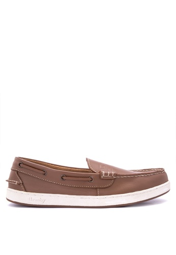 Grosby brown Seahunter Loafers GR420SH0J07MPH_1