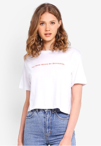 Factorie white Graphic Boxy Tee CD703AAC3AB709GS_1