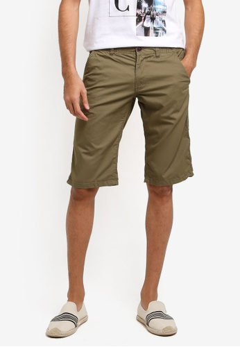 ESPRIT 綠色 Woven Regular Shorts DF6C9AA926E62AGS_1