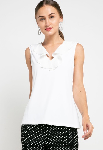 CHANIRA LA PAREZZA white Chanira La Parezza Lia Blouse-  White AAAD4AAF33E7EDGS_1